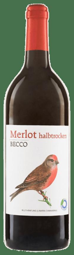 Riegel Eigenmarke Merlot BECCO halbtrocken 1l