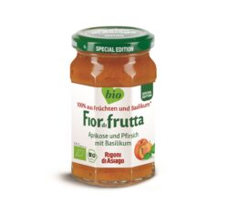 Rigoni di Asiago S.R.L.  Fiordifrutta Bio Aprikose-Pfirsich mit Basilikum-Aufstrich 250g