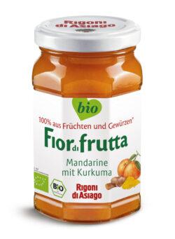 Rigoni di Asiago S.R.L.  Fiordifrutta Bio Mandarine mit Kurkuma Aufstrich 6x260g