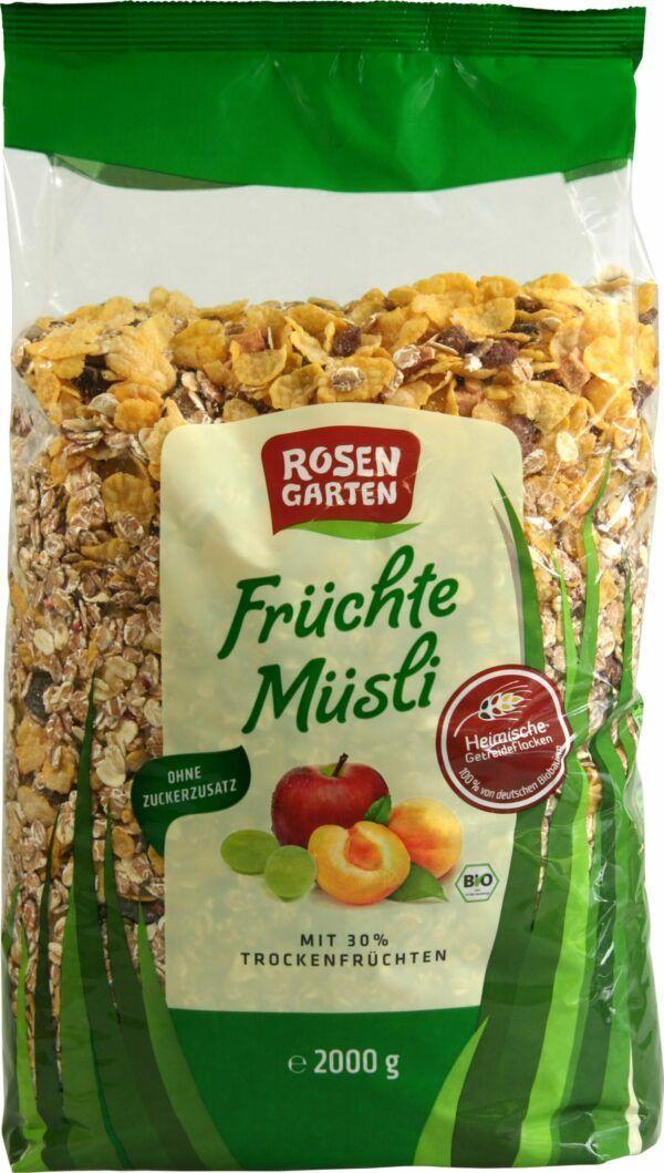 Rosengarten Früchte-Müsli 2000g