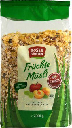 Rosengarten Früchte-Müsli 4x2000g