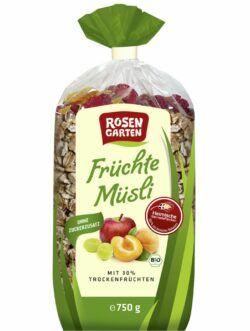 Rosengarten Früchte-Müsli 6x750g