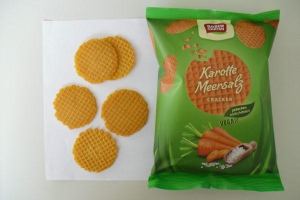 Rosengarten Gemüse-Cracker Karotte-Meersalz 60g biologischer Anbau 6x60g