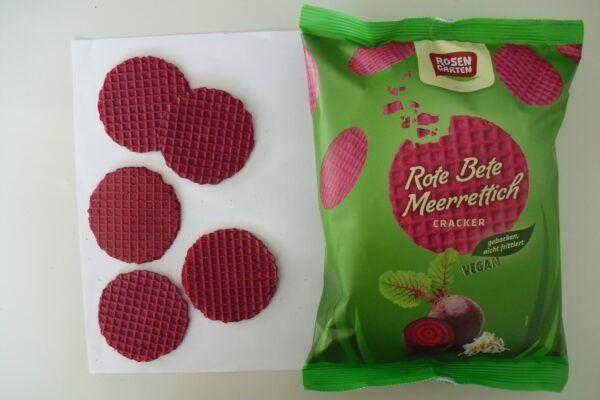 Rosengarten Gemüse-Cracker mit Roter Bete und Meerrettich (Bio) 6x60g