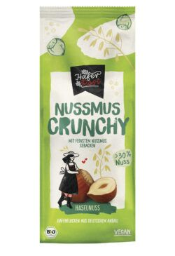 Rosengarten HaferRosi Nussmus-Crunchy Haselnuss 6x350g