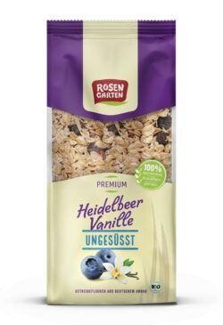 Rosengarten Heidelbeer-Vanille Müsli - ungesüßt 6x400g