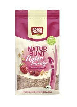 Rosengarten Naturbunt Rotes Porridge Himbeer-Cranberry 6x400g