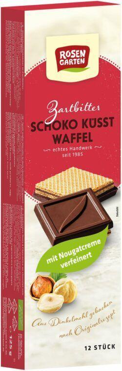 Rosengarten Schoko küsst Waffel Zartbitter 6x125g