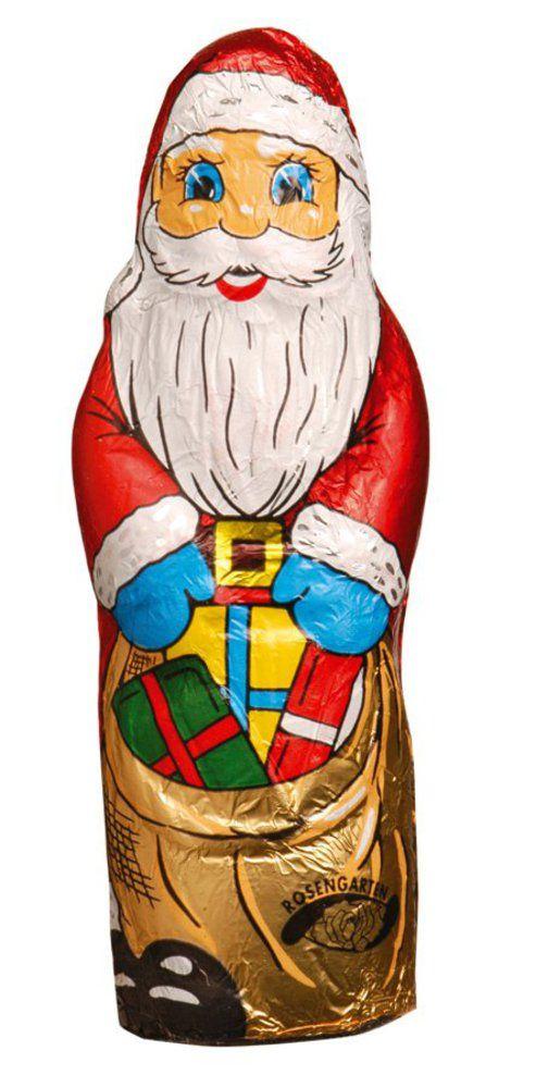 Rosengarten Vollmilch-Weihnachtsmann in Stanniol-Papier 50g