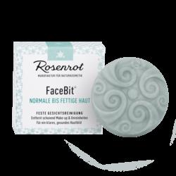 Rosenrot Naturkosmetik FaceBit® - Normale bis fettige Haut - 50g - festes Waschgel Gesichtsreinigung 50g