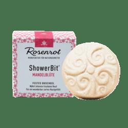 Rosenrot Naturkosmetik ShowerBit® - festes Duschgel Mandelblüte - 60g - in Schachtel 60g