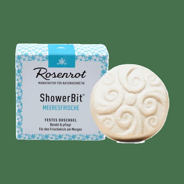 Rosenrot Naturkosmetik ShowerBit® - festes Duschgel Meeresfrische - 60g - in Schachtel 60g