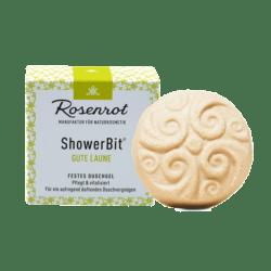 Rosenrot Naturkosmetik ShowerBit® - festes Duschgel Gute Laune - 60g - in Schachtel 60g