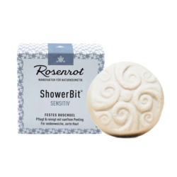 Rosenrot Naturkosmetik ShowerBit® - festes Duschgel Sensitiv - 60g - in Schachtel 60g