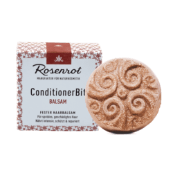 Rosenrot Naturkosmetik fester Haarbalsam - 60g - in Schachtel 60g