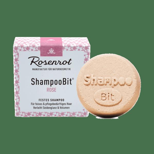 Rosenrot Naturkosmetik festes ShampooBit® Rose - 55g - in Schachtel 55g