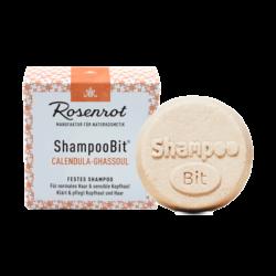 Rosenrot Naturkosmetik festes ShampooBit® Calendula-Ghassoul - 55g - in Schachtel 55g