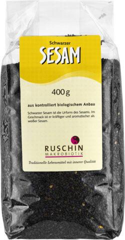 Ruschin Makrobiotik Schwarzer Sesam aus kontrolliert biologischem Anbau 6x400g
