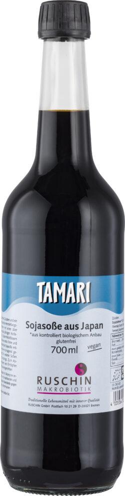Ruschin Makrobiotik Tamari, Sojasoße aus Japan 6x0,7l