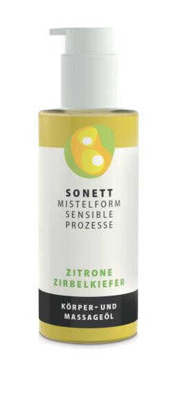 SONETT MISTELFORM. SENSIBLE PROZESSE Körper- und Massageöl Zitrone-Zirbelkiefer 145ml
