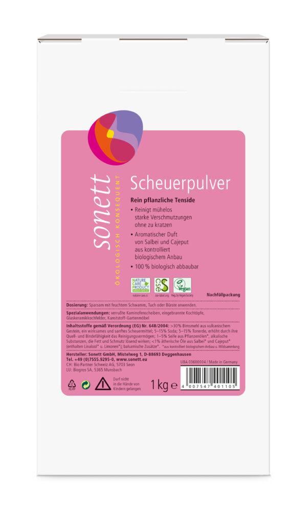 SONETT Scheuerpulver Nachfüllpackung 4x1kg