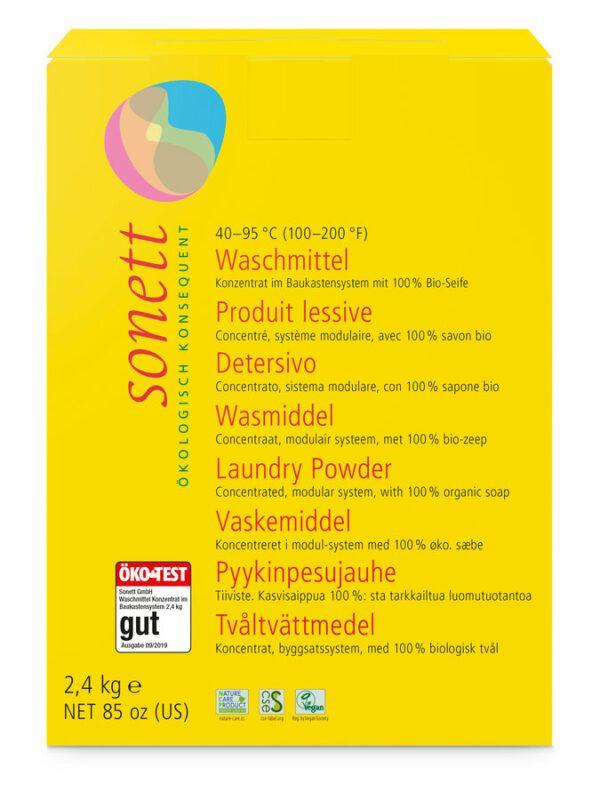 SONETT Waschmittel Pulver Konzentrat 40° 60° 95°C 4x2,4kg