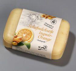 Saling Schafmilchseife Ingwer-Orange mit Banderole 12x100g