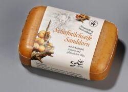 Saling Schafmilchseife Sanddorn mit Banderole 12x100g