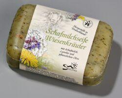 Saling Schafmilchseife Wiesenkräuter mit Banderole 12x100g