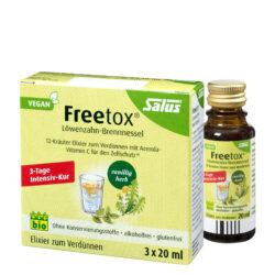 Salus® Freetox® Löwenzahn-Brennnessel 12-Kräuter-Elixier zum Verdünnen bio 10x60ml