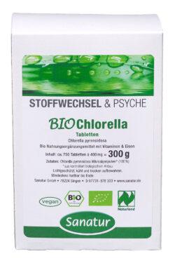 Sanatur BioChlorella 750 Tabletten, kbA 300g