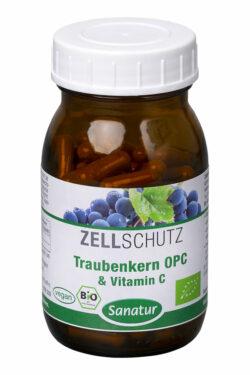 Sanatur Traubenkern OPC & Vitamin C, kbA 90 Kapseln 49g