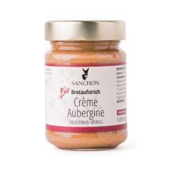 Sanchon Brotaufstrich Crème Aubergine, , Glutenfrei 6x190g