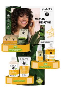 """Sante Aktionspaket Haarpflege """" als Bio-Hair Repair-Experte"""" Tischdisplay 1Stück"""