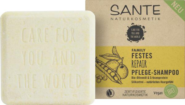 Sante Festes Repair Pflege-Shampoo Bio-Olivenöl & Erbsenprotein 60g
