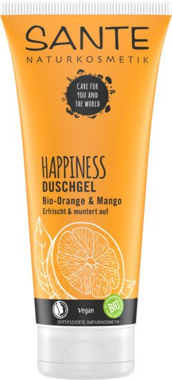 Sante HAPPINESS Duschgel Bio-Orange & Mango 200ml