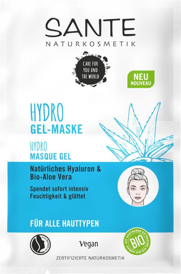 Sante Hydro Gel-Maske Natürliches Hyaluron & Bio-Aloe Vera 10x8ml