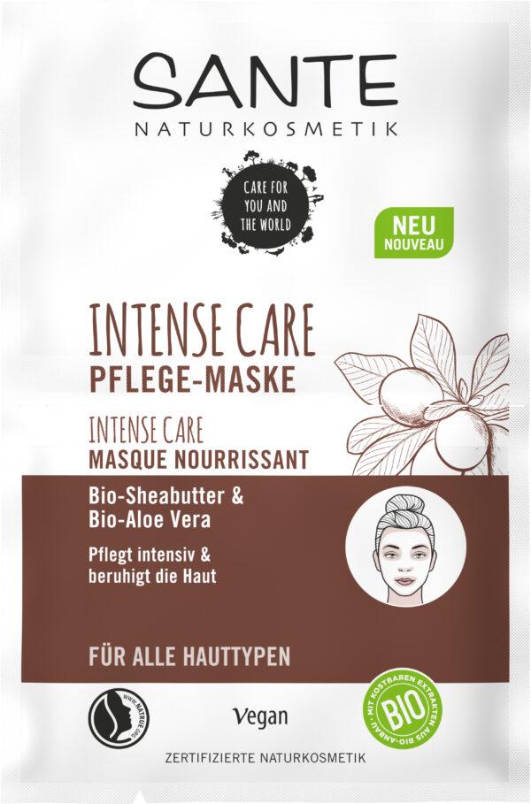 Sante Intense Care Pflege-Maske Bio-Sheabutter & Bio-Aloe Vera 10x8ml