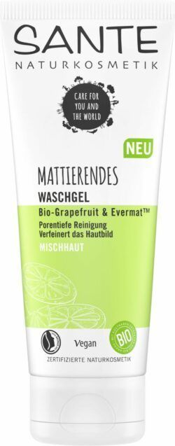 Sante Mattierendes Waschgel Bio-Grapefruit & Evermat 100ml