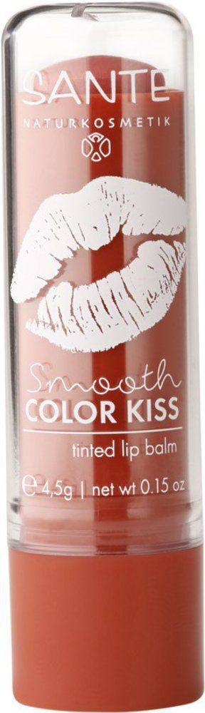 Sante Smooth Color Kiss -Tinted Lipbalm- soft coral 4,5g