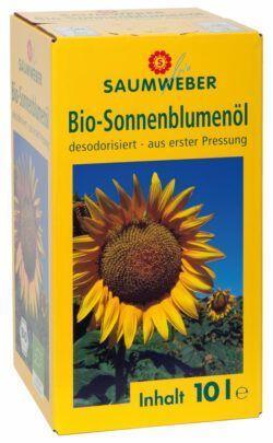 Saumweber Bio Bio-Sonnenblumenöl'Bag in Box' 10 ltr Box DE-ÖKO-006 - 10l