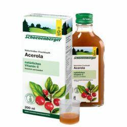 Schoenenberger® Acerola, Naturtrüber Fruchtsaft (Bio) 200ml