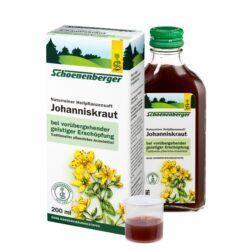 Schoenenberger® Johanniskraut, Naturreiner Heilpflanzensaft bio 200ml