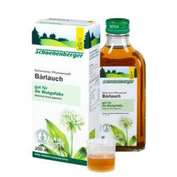 Schoenenberger® Bärlauch, Naturreiner Pflanzensaft (Bio) 200ml