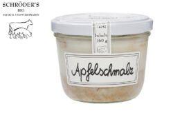 Schröder's Bio Fleisch- und Wurstwaren Apfelschmalz im Glas 160g