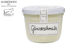 Schröder's Bio Fleisch- und Wurstwaren Gänseschmalz im Glas 160g