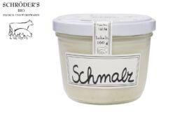Schröder's Bio Fleisch- und Wurstwaren Schmalz im Glas 160g