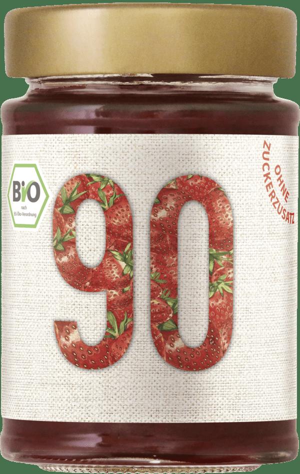Sibani 90% Fruchtaufstrich, kalorienfrei gesüßt ohne Zuckerzusatz, Bio Erdbeere 6x180g