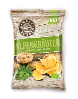Simply Potato Bio Chips Alpenkräuter 10x100g