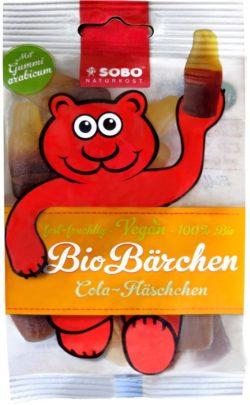 Sobo Bio-Bärchen Cola-Fläschchen, mit Gummi arabicum, ohne Gelatine 16x75g
